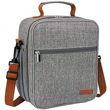 buways Lunch Box Insulated Lunch Bag for Men Adults Women Durable & Spacious Lunchbox for Work Picnic Hiking 25% LARGER Greater Storage Grey