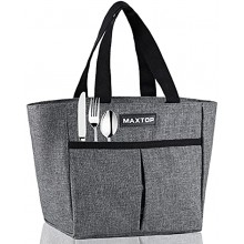 MAXTOP Lunch Bags for Women,Insulated Thermal Lunch Tote Bag,Lunch Box with Front Pocket for Office Work Picnic Shopping