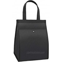 VAGREEZ Lunch Bag Insulated Lunch Tote Bag With Phone Holder Pocket Simple Reusable Lunch Bag for Women or Men Black
