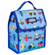 Wildkin Kids Insulated Lunch Bag for Boys and Girls,Lunch Bags Ideal Size for Packing Hot or Cold Snacks for School and Travel Mom's Choice Award Winner,BPA-Free,Olive KidsTrains Planes and Trucks