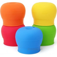 Silicone Sippy Lids Pack of 5 maxin Silicone Spout Makes Cup into Spill-Proof Sippy Cup for Babies and Toddlers