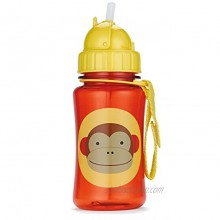 Skip Hop Toddler Sippy Cup with Straw Zoo Steel Straw Bottle Monkey