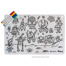 ZoLi x Brady Smith Collaboration | colorMATTIES Space Fun Silicone Coloring Placemats for Tots and Kids