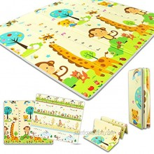 Baby Play Mat,Large Folding Baby Crawling Mat,Easy to Carry,Non-Slip&Waterproof mat,Non Toxicand Strange Smell,Toddler Outdoor or Indoor Use