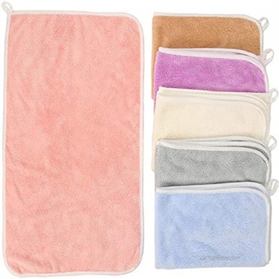 DSDAI Burp Cloths Baby Burp Cloth Sets for Unisex 6 Pack Large 20x12 Inches Microfiber Coral Fleece Extra Absorbent and Soft Milk Spit Up Rags Bibs,Newborn Burping Cloths for Boys and Girls