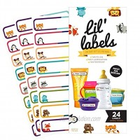 Bottle Labels Write-On Self-Laminating Waterproof Kids Name Labels for Baby Bottles Sippy Cup for Daycare School Dishwasher Safe Animal Friends Made in The USA