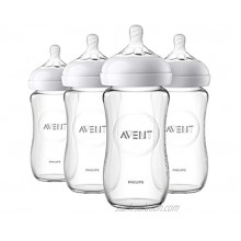 Philips Avent Natural Glass Baby Bottle Clear 8oz 4pk SCF703 47
