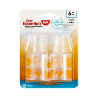 NUK First Essential 6 Pack Silicone Nipples