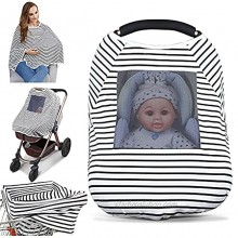 Baby Nursing Cover & Nursing Poncho Multi Use Cover for Baby Car Seat Canopy Shopping Cart Cover Stroller Cover 360° Full Privacy Breastfeeding Coverage Baby Shower Gifts for Boy&Girl