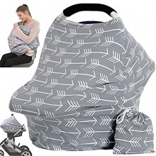 Car Seat Canopy Nursing Cover Multi Use Baby Stroller and Carseat Cover Breastfeeding Nursing Covers Boys and Girls Shower Gifts Classical Arrows