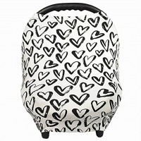Gufix Infant Car Seat Cover The Stretchy Nursing Scarf Car Seat Canopy Shopping Cart Cover and High Chair Cover that Protects Babies and Breastfeeding Mothers. The 8-in-1 Multiuse Cover for Babies.