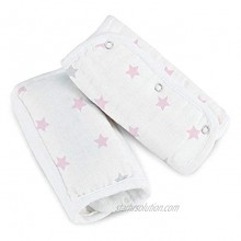 Aden by aden + anais Strap Cover; 100% Cotton Muslin Strap Covers with 100% Polyester Fill; 2-Pack; Darling Stars