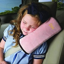 Kids Travel Pillow for Car Seat,Seat Belt Pillow Covers for Kids in Car,Softly Seatbelt Pillow for Baby Toddler Child Booster Carseat,Seat Belt Strap Neck Head Shoulder Support Cushion Pad Pink