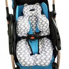 AIPINQI Head and Body Support Pillow with Neck Support for Baby Car Seat and Strollers Cloud