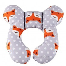 Baby Travel Pillow Infant Head and Neck Support Pillow for Car Seat for 0-1 Years Old Baby Gray Fox
