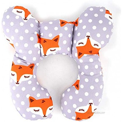 QWERT Baby Head Support Pillow Newborn Infant Head & Neck Cushion Perfect for Car Seats and Strollers Comfortable Kids Travel Pillow Perfect for Boy or Girl