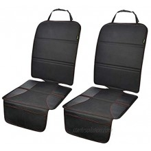 Car Seat Protector 2 Pack for Child Car Seat Auto Seat Cover Pad Under Baby Carseat Full Protection for Your Fabric and Leather Seats
