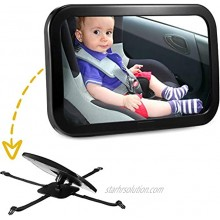 Baby Car Mirror Safety Baby Seat Mirror Adjustable for Rear Facing Infant with Wide and Clear View Shatterproof Fully Assembled for Baby Children Car Seat