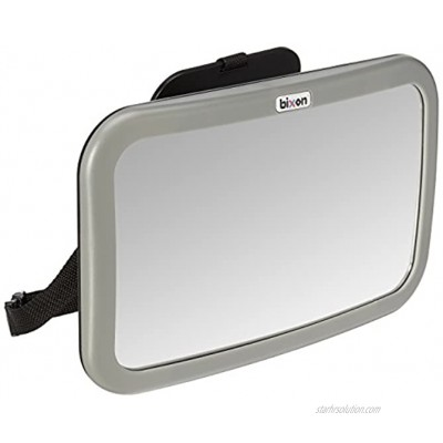 BiXon Safety Shatterproof Back-Seat Wide Convex Mirror for Infants Easy Fitting to Keep Baby in Sight Clearer View with Allowed Rotation Silver
