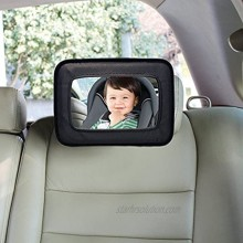 Dreambaby Backseat Rear Facing Baby Car Mirror Extra Large Wide Angle View – Model L291