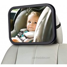 MONOJOY Baby Car Mirror for Back Seat Baby Car Seat Mirror Safety and Wide Baby Rear View Mirror to See Rear Facing Infants Babies Kids and Child