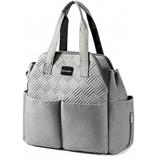 Diaper Bag Multifunction Travel Tote Diaper Bag for Mom and Dad,Multi-Compartment Baby Bag for Boys and Girls  Insulated Pockets,Large Capacity-Grey
