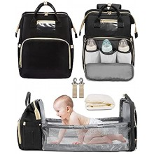 Diaper Bag with Changing Station LOIRAL 3 in 1 Diaper Bag Travel Bassinet Change Station for Baby Boys Girls with Changing Pad & Stroller Straps Large Capacity Diaper Back Pack,New Mom Gifts Ideas