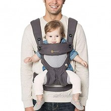 Ergobaby 360 All-Position Baby Carrier with Lumbar Support and Cool Air Mesh 12-45 Pounds Carbon Grey
