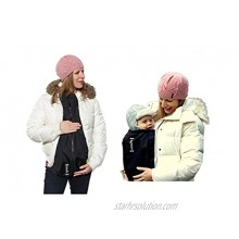 Extendher Maternity Coat Alternative. Jacket Extender Lined With Polartec Fleece. Nylon Outer Shell   Clip On Babywearing Adapter Panel Converts Any Zip Up Coat Doubles As Baby Cover 1 Size