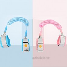 2PCS Anti Lost Wrist Link Safety Wrist Link Suit with Magnetic Induction Lock and Child Leash Suitable for Infants and Children Safely 8.2ft Pink+8.2ft Blue
