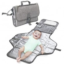ISAMANNER Changing Pad Portable Changing Pad,Lightweight Travel Station Kit for Baby Diapering,Diaper Changing Pad,Diaper Clutch,Diaper Pouch,Diaper Mat,Travel Changing Mat Grey