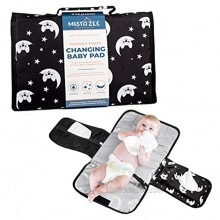 Mista Zee Portable Baby Changing Pad with Diaper & Wipe Pockets Waterproof Car Diaper Changing Station Easy to Clean & Foldable Unisex Portable Diaper Changing Station for Infant Girls & Boys