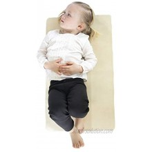 SONDER Double Sided Vegan Leather Changing Mat Infant and Toddler Multipurpose Portable Waterproof Diaper Pad Compact for Travel Deluxe Diaper Changer Honey Gold + Ivory 16 x 27