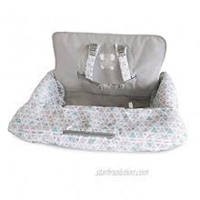Carter's 2-in-1 Shopping Cart and High Chair Cover Triangles Grey Blue