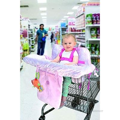 Little Me Baby 2 in 1 Shopping Cart and High Chair Cover Damask