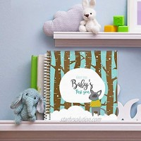 Baby First Year Memory Book Keep Your Baby's First Memories Safe and Close in This Unique Blue Hard Cover Photo Scrapbook Perfect Way to Keepsake Your Family's Special Moments Miles