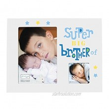 C.R. Gibson Super Big Brother Kids Photo Frame Holds one 4'' x 6'' and one 2.25'' Square Photo 9.25'' x 9.25''