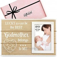 GIFTAGIRL Popular Godmother Gifts for Godmother Our Beautifully Worded Godmother Picture Frames are a Lovely God Mother's Gift. Godmother Frames are Very Cute Godmother Gifts from Godchild this Xmas