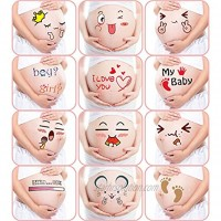 M&G House Pregnancy Belly Stickers Maternity Funny Cute Facial Expressions Pregnancy Baby Bump Belly Sticker Photography Props Pregnant Belly Stickers-12 Stickers with Different Expressions