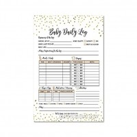 Nanny Newborn Baby or Toddler Log Tracker Journal Book Daily Schedule Feeding Food Sleep Naps Activity Diaper Change Monitor Notes For Daycare Babysitter Caregiver Infants and Babies 50 Sheet Pad