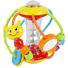 HOLA Baby Toys 6 to 12 Months Baby Rattles Activity Ball,Shaker,Grab and Spin Rattle Crawling Educational Learning Sensory Toys for 3,6,9,12 Months Baby Kids Infant Boys Girls