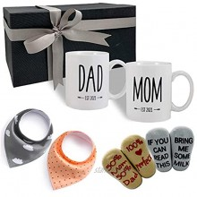 Accgz New Parents Pregnancy Gift Est 2021 New Mommy and Daddy Est 2021 11 oz Mug Heart Expecting Mother to be Baby Shower Gender Reveal