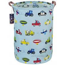 HKEC 19.7'' Waterproof Foldable Storage Bin Dirty Clothes Laundry Basket Canvas Organizer Basket for Laundry Hamper Toy Bins Gift Baskets Bedroom Clothes Baby HamperCar