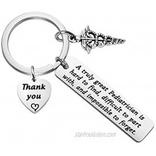 TGBJE Pediatrician Gift A Truly Great Pediatrician is Hard to Find Keychain Thank You Gift Pediatric Nurse Gift Doctor Gift