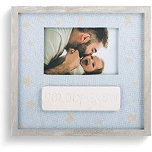 Demdaco Boldly Grow Sky Blue 9.5 x 10 Ceramic Children's Tabletop Picture Frame