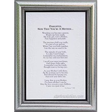 Now That You're a Mother Frame- Gift for Daughter from Mom for Christmas Mother's Day Child Birth