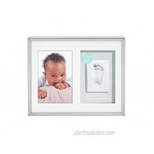 Tiny Ideas Baby's Prints Photo Frame with Included Impression Kit Keepsake Wall Silver