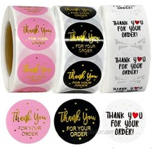 3 rolls1500PCS Thank You for Supporting My Small Business Sticker Labels,Thank You Stickers Roll,1Thank You Stickers Labels for Envelopes,Bubble Mailers and Gift Bags Packaging
