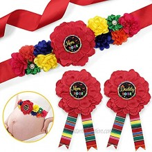 Fiesta mom to Be for Baby Shower Sash Maternity Sash Belt mom to Be & Daddy to Be Fiesta Themed Baby Shower Decor