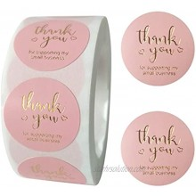 Thank You Stickers 1 Round Thank You Stickers Small Business Roll  Thank You Labels for Bags Bubble Mailers Greeting Cards Flower Bouquets Gift Wraps Tags Mailers